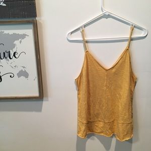 Tops - Yellow thin strapped tank top 💛